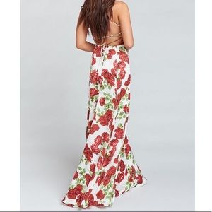 Show Me Your MuMu Dresses - Budding Romance Rose Print Godshaw Goddess Gown